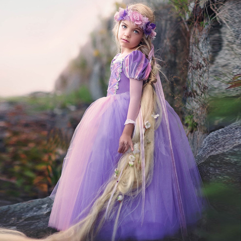 Wedding Dress Girl Fancy Vestidos Girls Party Dress Children Lace Ball Gown Princess Dress Girl Clothes Cosplay Costume for Kids kids girls lace princess dress children party dress for wedding baby girl clothes toddler solid color costume robe file vestidos
