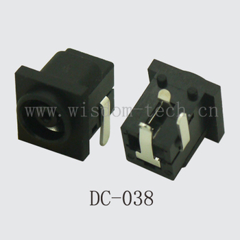 Free shipping 500pcs/lot  DC power jack DIP 3pin for tablet DC jack notebook computer DC-038
