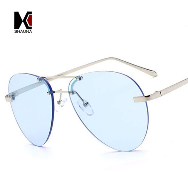 c63ca180c07c40 SHAUNA 8 Couleurs Sans Monture de Mode Dames de Teinte des Verres lunettes  de Soleil Marque