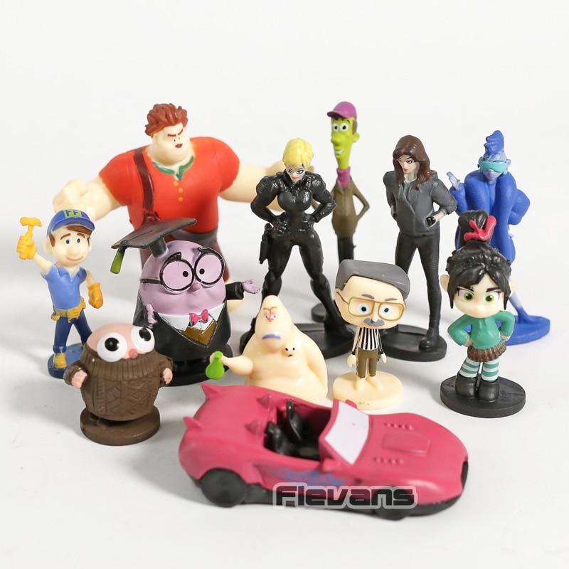 Ralph Breaks The Internet Felix Vanellope Yesss Shank Mini PVC Figures Toys Dolls For Kids 12pcs/set