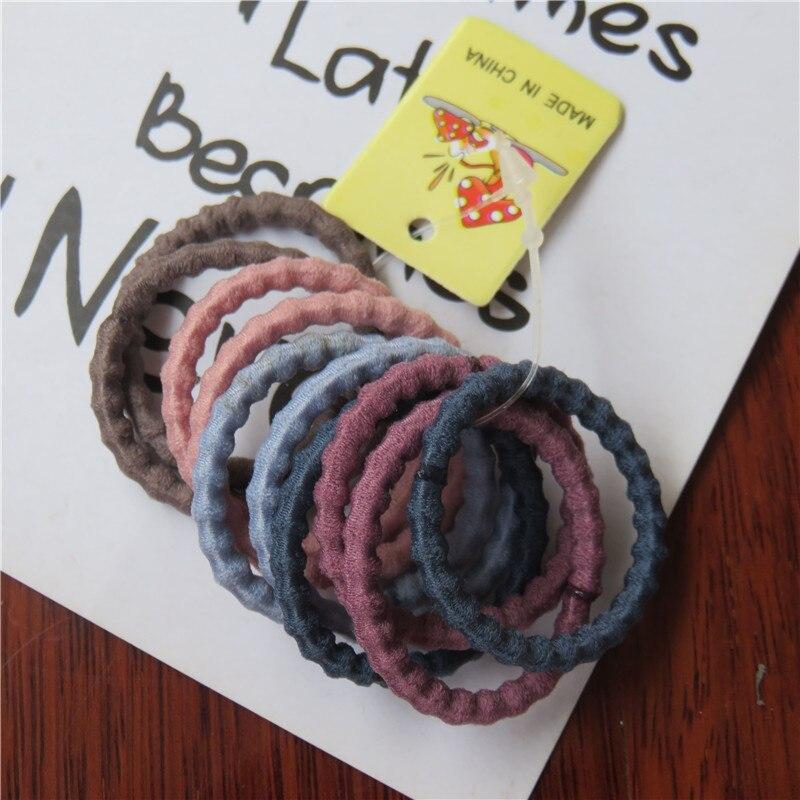 10PCS/1SET Pretty 3CM Colourful Elastic Hair Bands For Girls Handmade Hair Scrunchy Kids Creative Hair Accessories For Women