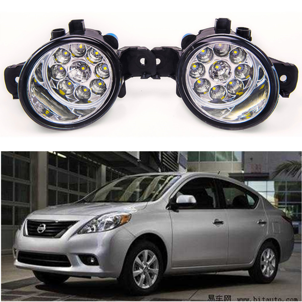 For NISSAN Versa 2012-2014 Car styling LED fog Lights high brightness fog lamps for lexus rx gyl1 ggl15 agl10 450h awd 350 awd 2008 2013 car styling led fog lights high brightness fog lamps 1set