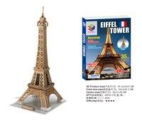 Buy 4 Get 1 Educational Toys 3D Puzzle Famous Construction Building Model Eiffel Tower 3D