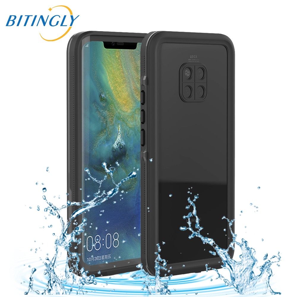 Bitingly Mate 20Pro Waterproof Case For HUAWEI Mate 20 Pro Swimming IP68 Water Resistant Sand Skiing Proof Cover Mate20Pro CoqueBitingly Mate 20Pro Waterproof Case For HUAWEI Mate 20 Pro Swimming IP68 Water Resistant Sand Skiing Proof Cover Mate20Pro Coque