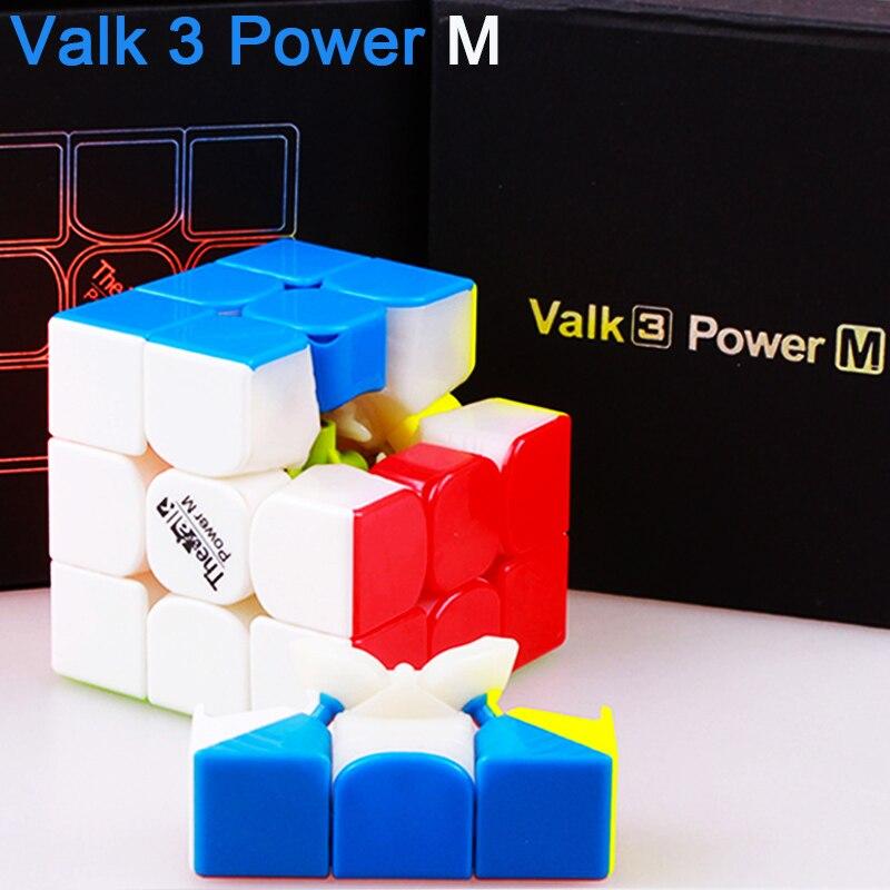 Le Valk3 Puissance M Magnétique Cube Magique Professionnel 3x3x3 Vitesse Cube Puzzle Cubo Magico La valk3 aimants Cubes Jouets Pour Enfants