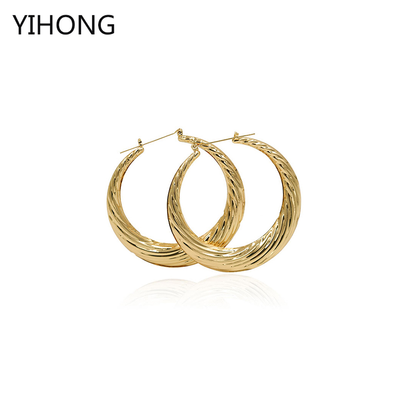 Hot Sale Hoop Earrings Women Basketball Wives Gold Iron Sheet Earrings for Fashion Women Jewelry