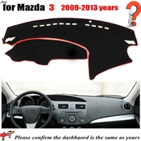 Car Dashboard Covers For MAZDA 3 2009 to 2013 years Automobile Dashmat Left Hand Driver