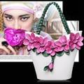 2016 autumn and winter fashion retro Bucket Bag Shoulder Bag Handbag diagonal flower messenger bag