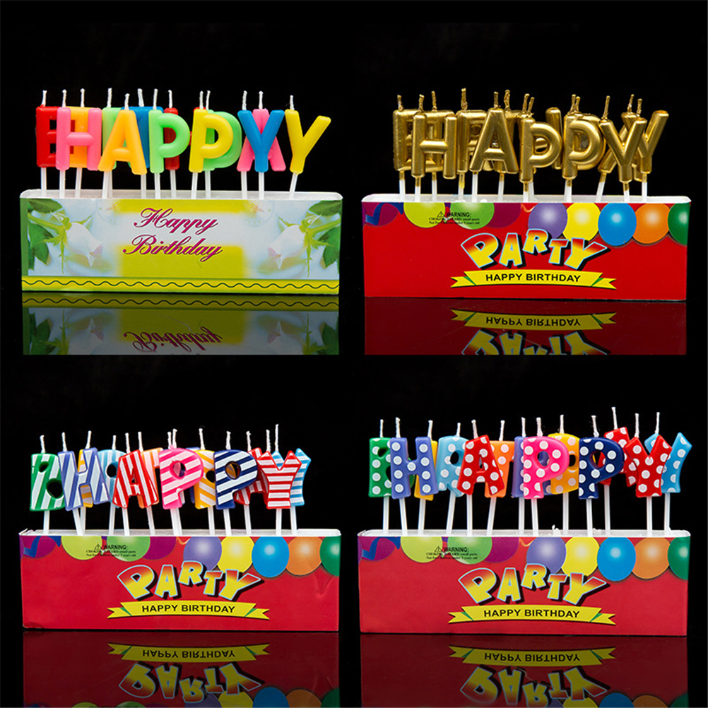 1Set Hot Happy Birthday Letter Balloon I Love You Candles Toothpick Cake Cute Candle Kids Party Decoration In From Home Garden On Aliexpress