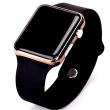 Mężczyźni Sport casual LED zegarki mężczyźni cyfrowy zegar człowiek Armia wojskowy silikonowy zegarek zegar Hodinky ceasuri Relogio męski tanie tanio Digital Wristwatches Placu Leather Deployment Bucket Gumowe Stopu No waterproof Papieru Fashion Casual WoMaGe 24inch Plastikowe