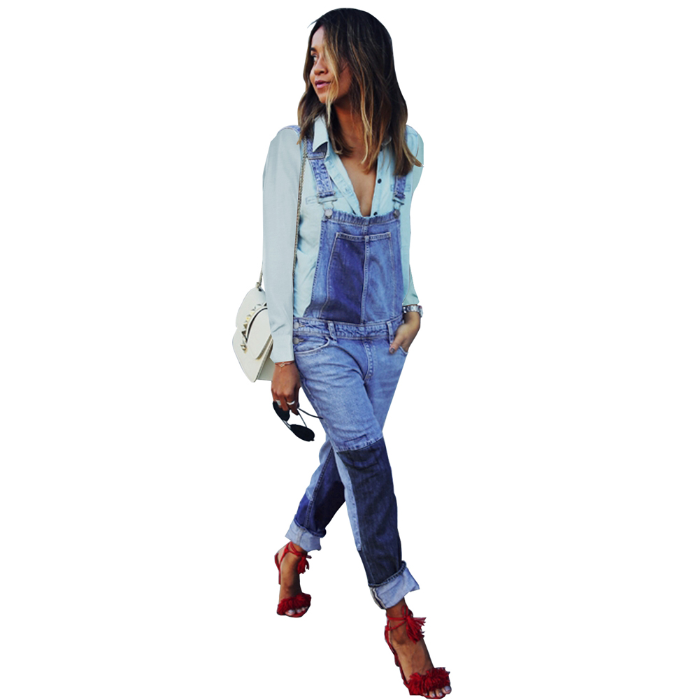 Denim Straight Wild Women Fashion Casual Jumpsuit Playsuit Jeans Blue Female Color Ladies Matching Loose Design Overall 5AUAwPYqx