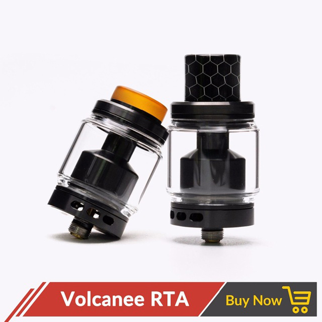 Original Volcanee RTA Dual Coil Tank Atomizer 5ml 24mm Diameter Top Refill for Vape E Cig vs Reload Doggy Style Skyline RTA