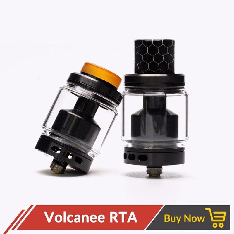 Original Volcanee RTA Dual Coil Tank Zerstäuber 5 ml 24mm Durchmesser Top Refill für Vape E Cig vs Reload doggy Stil Skyline RTA
