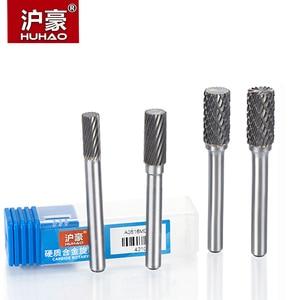 Image 1 - Cortador de acero de tungsteno HUHAO 1 pieza 6mm, cabezal de tallado de Metal, Lima rotativa, broca de enrutador para Pulido de metales tipo A