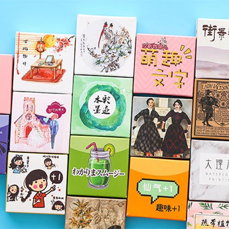 40 Pcs/box Cute Cartoon Sticker Label Kawaii Diary Handmade Adhesive Paper Flake Korea Sticker Scrapbooking Stationery
