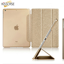KISSCASE mini1 mini2 Flip Luxury Leather Transparent Clear Back Case For Apple ipad mini 1 2 3 Retina Accessories Stand Cover