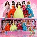3d eua hitomi conjunto grande bonecas de presente boneca barbie princesa wedding dress up vestido up presente brinquedo de menina