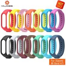 Sport Mi Band 3 4 Bracelet for Xiaomi Strap Smart Watch Miband accessories Silicone pulsera correa replace