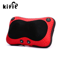 KIFIT Useful Relax Massage Pillow Electric Heat Neck Back Shoulder Cushion Car And Home Health Care