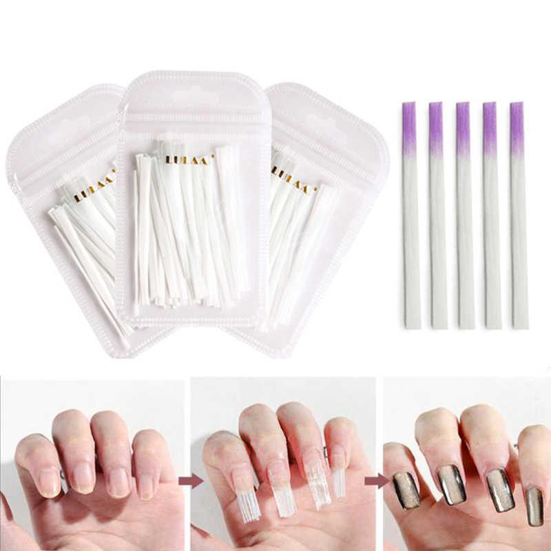 AMEIZII 10/20/50 piezas de fibra de vidrio de seda profesional puntas acrílicas de extensión de uñas de Gel UV fibra de formas de acrílico