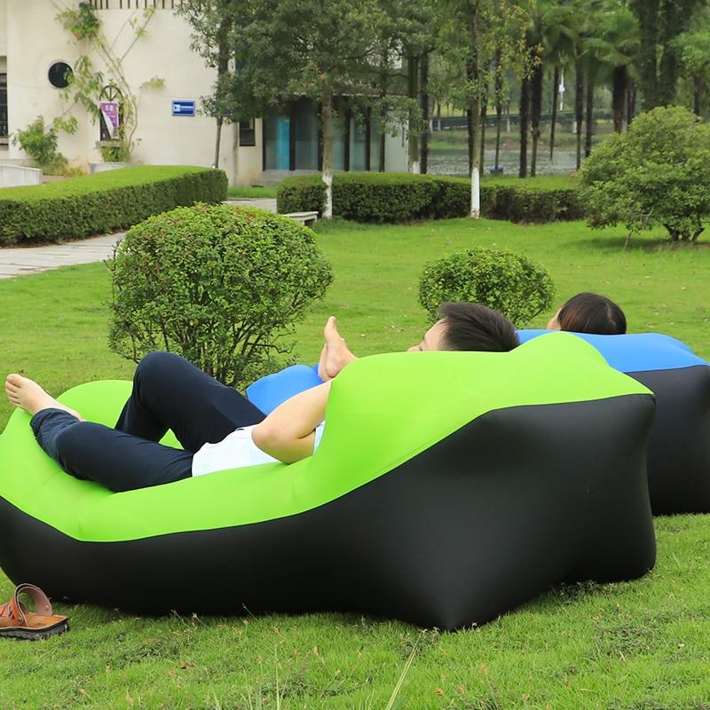 Drop shipping fast inflatable lounger air sleep camping sofa portable camping travel outdoor hangout laybag lazy <font><b>bag</b></font>