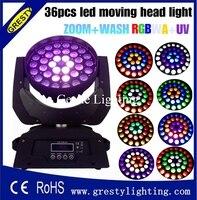 RGBWA+UV 6in1 led moving head zoom 36x18w wash light