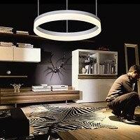 Современные светодиодные контракт акриловая кулон кольцо, лампочками, для игры в помещении, детская комната, Ванная комната, Гостиная