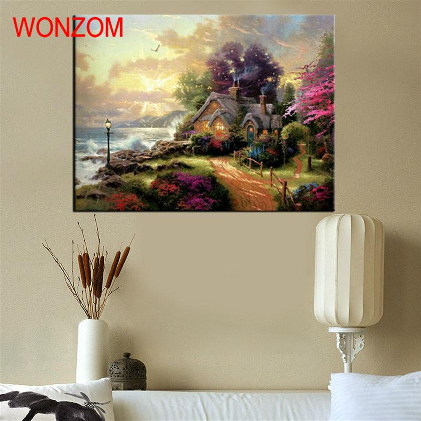 Wonderland Villa Oil Painting Coloring By Numbers Abstract Digital - Home Decor - Photo 6