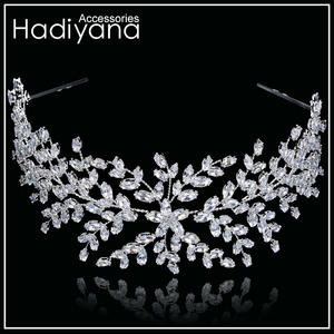 Image 4 - Hadiyana Thời Trang Cô Dâu Thái Cưới Tiaras Với Zircon Nữ Tóc Phụ Kiện Trang Sức Mũ Trụ Cao Cấp Mềm Mại Barrettes BC4702
