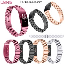 12mm strap For Garmin Inspire smart watch wristband Metal Stainless Steel Watch Band Strap accessories