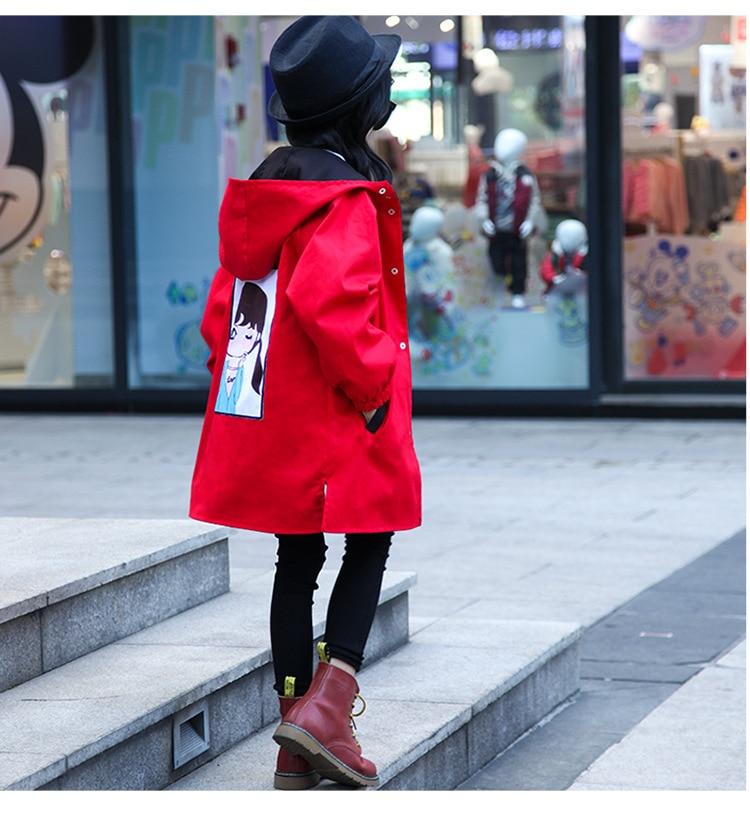 blusão para meninas trench coat outwear roupas infantis