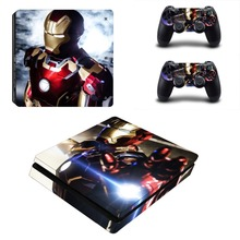 PS4 Slim Skin Sticker Iron Man Vinyl Decals Slim Console and Controller Stickers for Playstation 4 Controllers Skins
