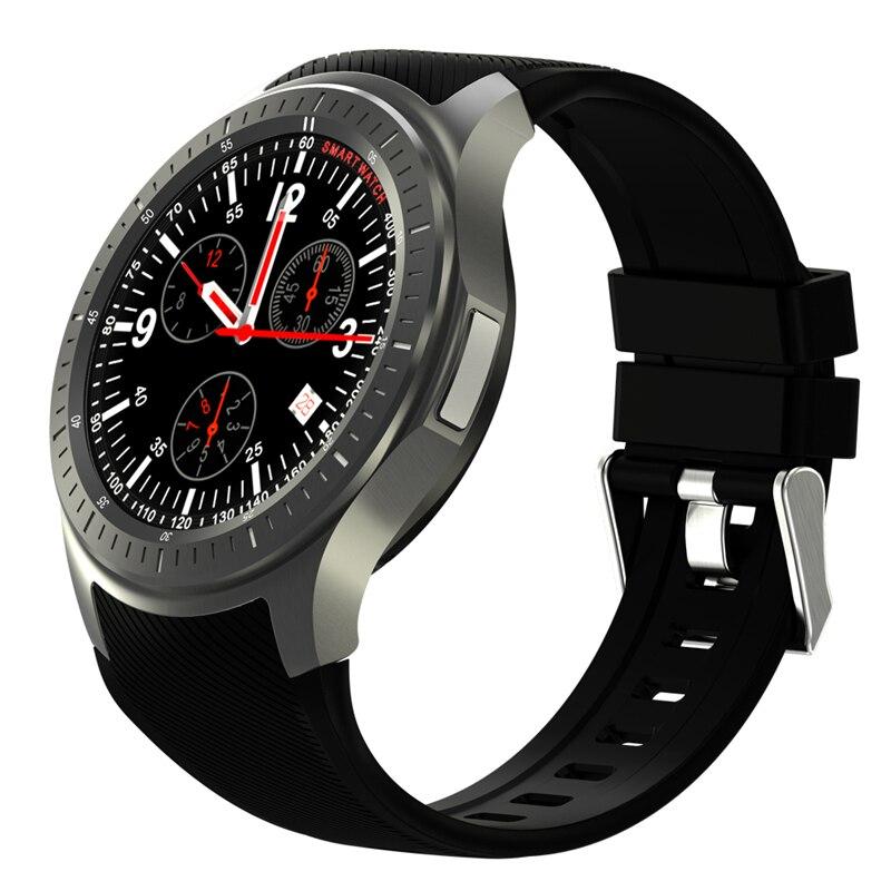 En stock 2017 DM368 Bluetooth Montre Smart Watch Smartwatch 3g MTK6580 Android 5.1 Quad Core 512 mb + 8 gb montre-bracelet avec la Fréquence Cardiaque GPS