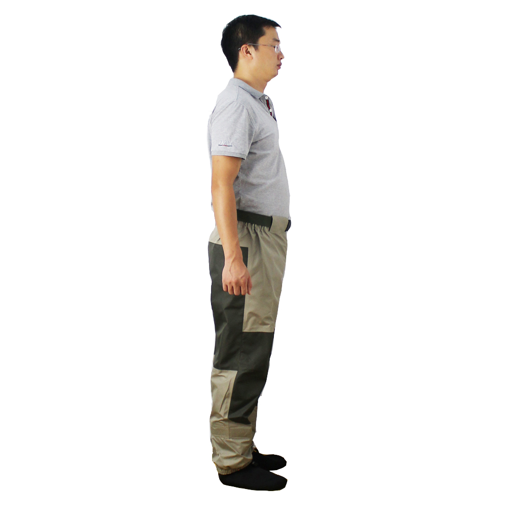 Pantalon de pêche à la mouche pantalon imperméable à l'eau Durable Wading pantalon de taille respirant avec pied de bas - 4
