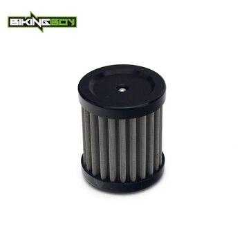 BIKINGBOY reutilizable de acero inoxidable Oli filtro para HUSQVARNA TE 125 4 T 2011, 2012 de 2013 SMS4 11 12 13