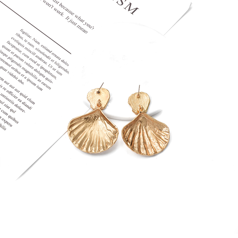 Hanging Gold Earrings Hot Sale Shell Shaped Dangle Drop Earrings Jewelry  High Quality Pendientes Accessories For Women
