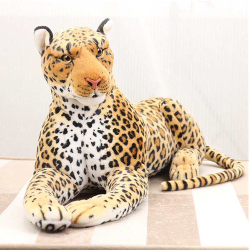 Fancytrader 43  110cm Biggest Large Leopard Plush Soft Stuffed Emulational Cheetah Toy Great Gift Free