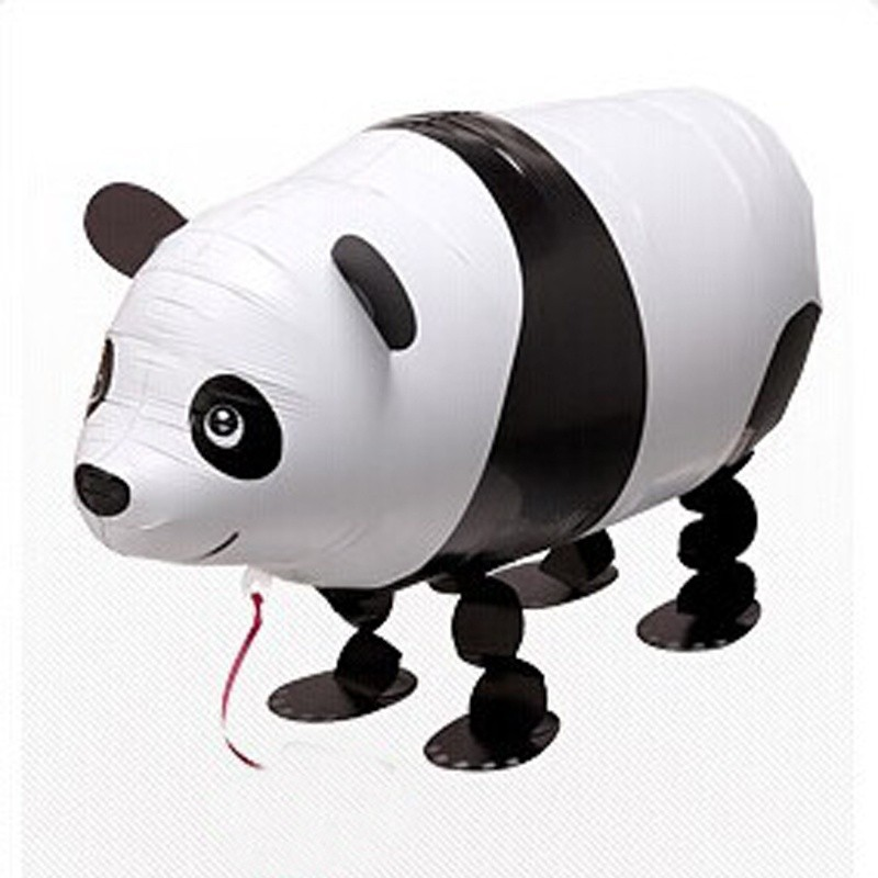 1 pc Walking Panda Balloon Pet Cartoon Animal Helium Balloon for Children Kids Birthday Party Decoration Funny Birthday Gift