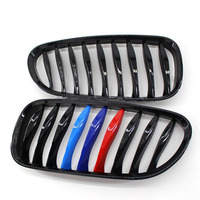 2 Pcs M Color Car Front Hood Kidney Grille Grill for BMW Z4 E85 2003 2004 2005 2006 2007 Auto Bonnet Grill Free Shipping