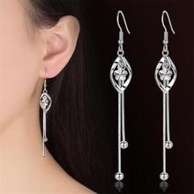 Boucles d'oreilles en argent sterling 925, marque de luxe, crochet d'oreille, personnalité féminine originale, bijoux à pompon exagéré, nouvelle collection
