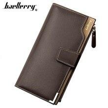 Baellerry Men Long Wallets Card Holder Zipper Fashion Style Korean Men Purse Casual Business Phone Coin Pocket Male Wallet цены