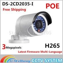 2016 НОВЫЙ Оригинальный DS-2CD2035-I заменить DS-2CD2032-Я и DS-2CD2032F-I H265 3-МЕГАПИКСЕЛЬНАЯ камера IP мини пуля POE IPC DS-2CD2035-I