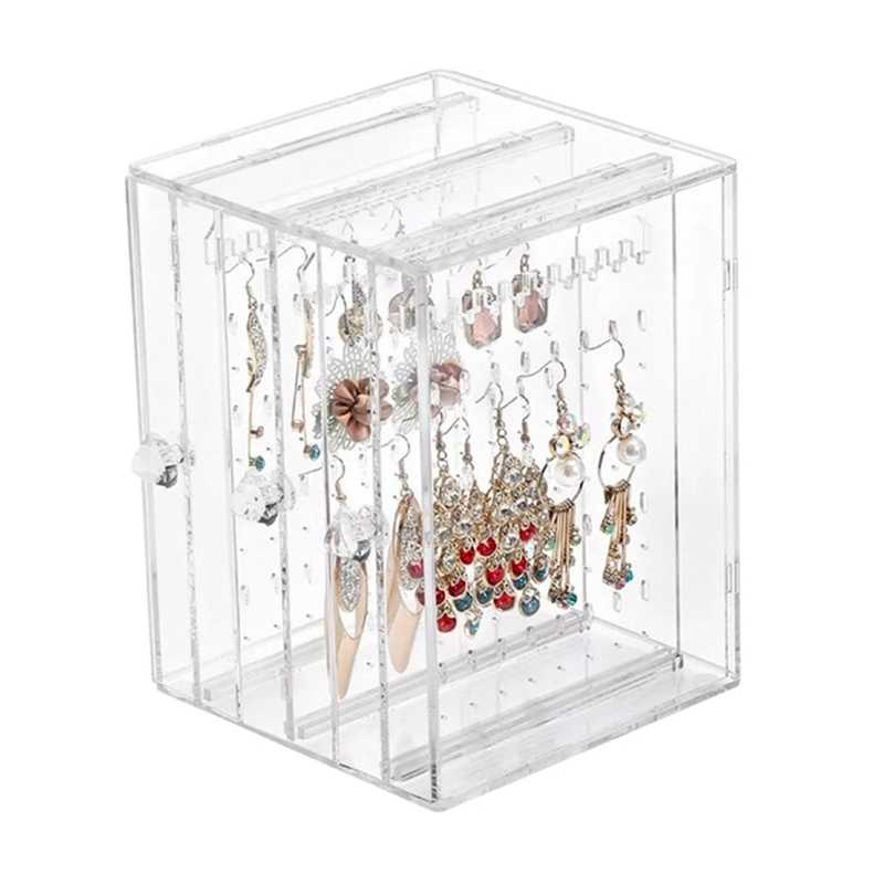 Display Box Acrylic Wall Mounted Classic Single Made Necklace Storage Boxes Jewelry Organizer Box Earrings Box