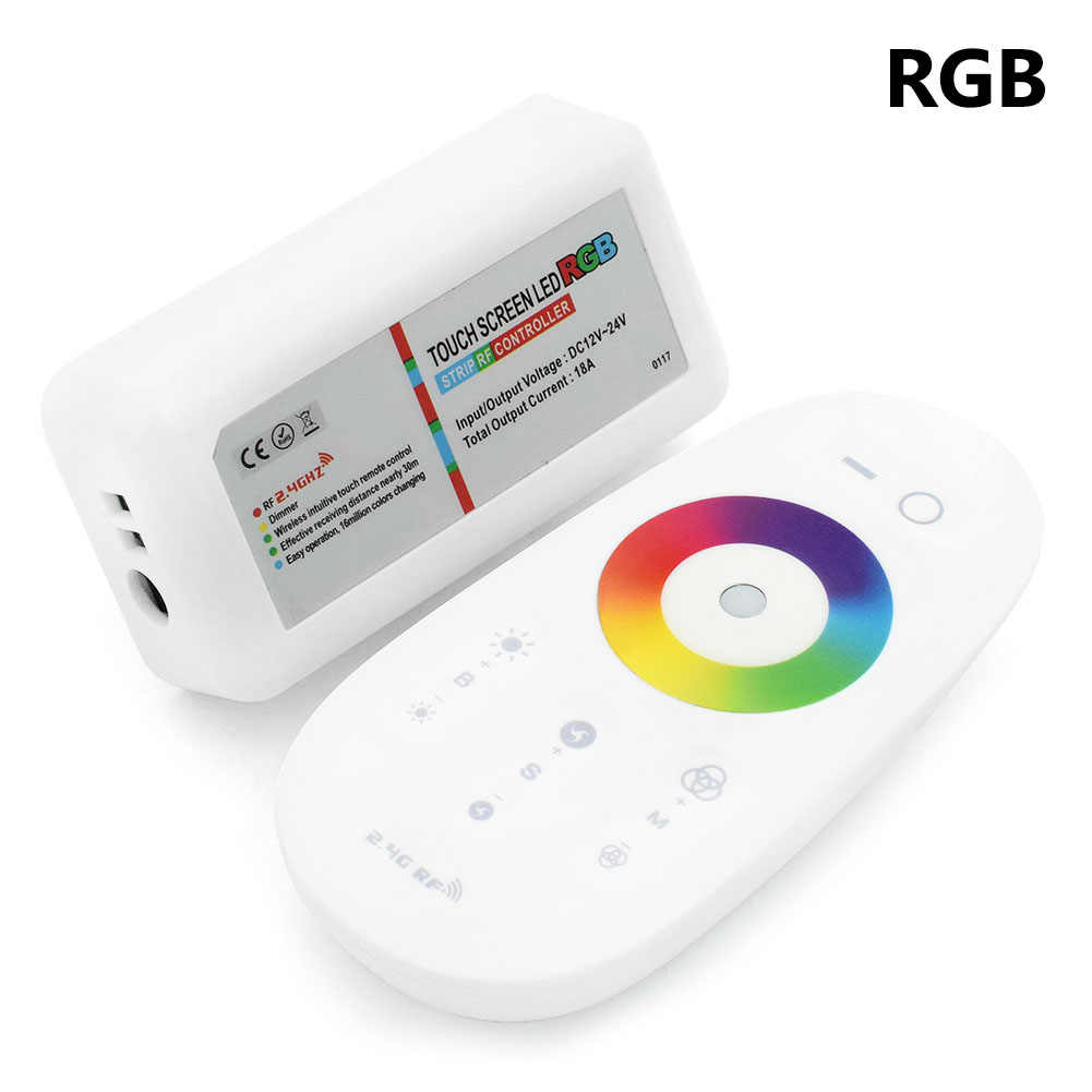 Nieuwe Collectie RGBW/RGB LED Controller Touchscreen 2.4G DC12-24V Afstandsbediening Set Voor RGB RGBW Led Strip 12-24 v