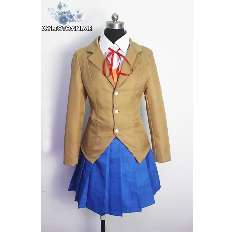 Doki Doki Literature Club Monika Sayori Yuri Natsuki Cosplay Costume School Uniform Girl Game Costume