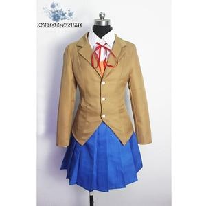 Image 2 - Doki Doki Literature Club Monika Sayori Yuri Natsuki Cosplay Costume School Uniform Girl Game Costume