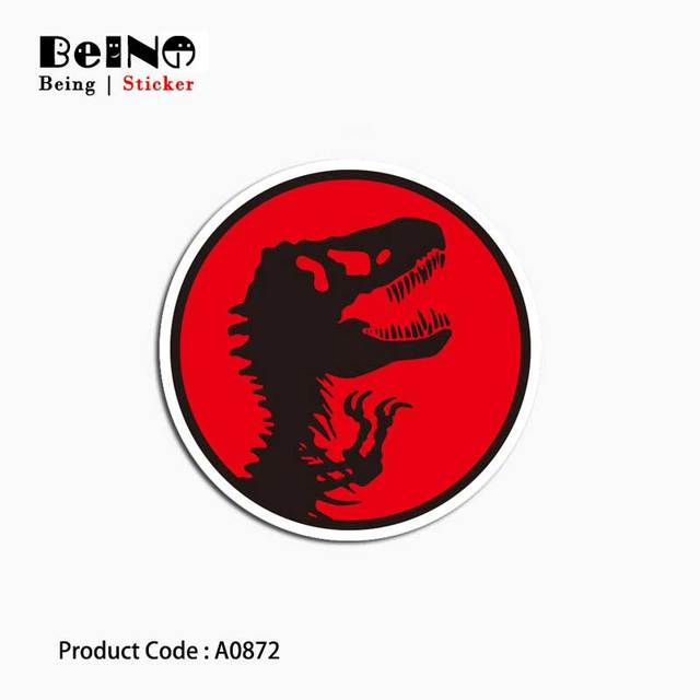 Dinosaur Jurassic Park Sticker Extinct Cool Waterproof Suitcase Laptop Guitar Luggage Skateboard Toy Lovely A0872 Stickers QY31
