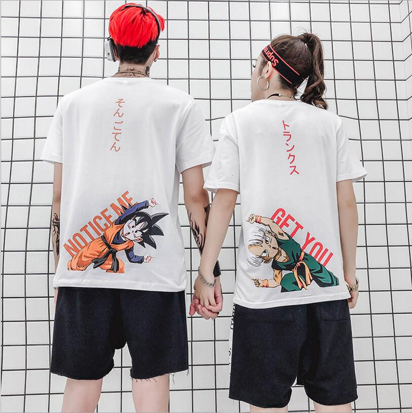 Dragon Ball DBZ Bulma Super Saiyan Vegeta T-shirt Hommes Femmes Anime Kid Goku Goten Gohan T-shirt Japa Harajuku Lonzo Balle Tee Tops