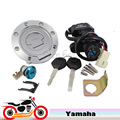 Motorcycle Fuel Gas Cap Tank Cover Ignition Switch Seat Lock Key Set for YZF R1 2007-2011 R6 2004-2006 R6S 2004 2006-2009