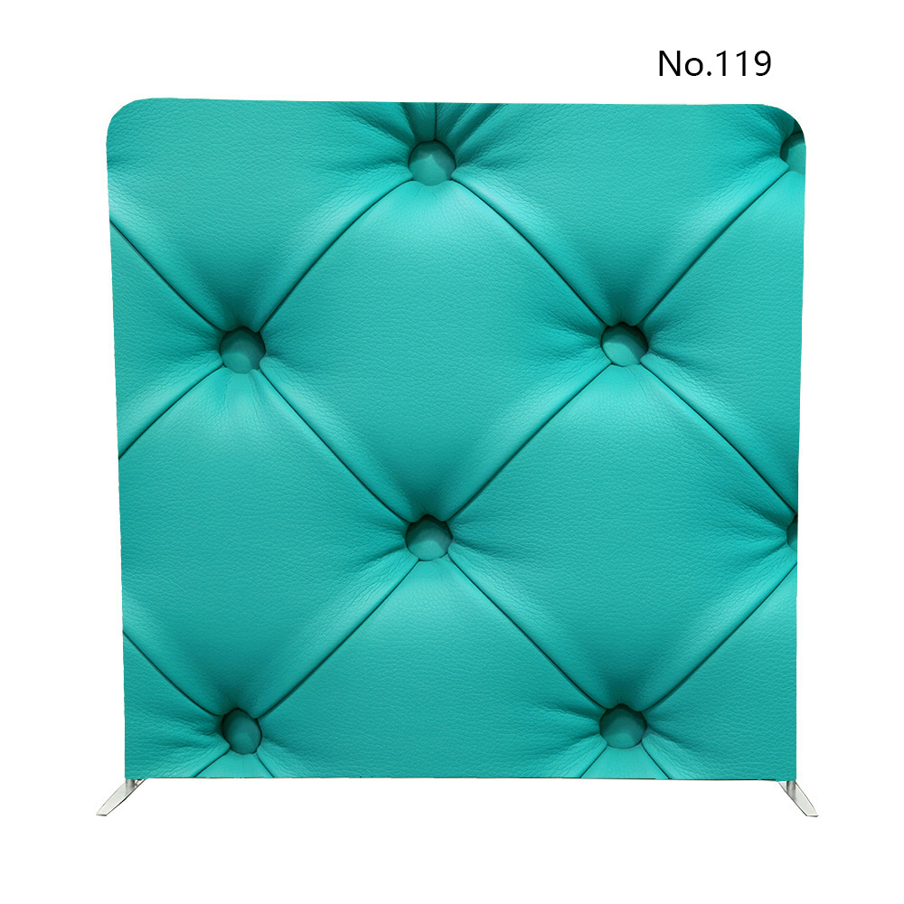 - 8ft Turquoise Leather Sofa Stitched Buttons For Double Sided